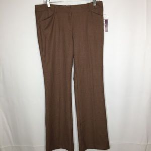 Roz & Ali 8 the smart pant checked plaid trousers
